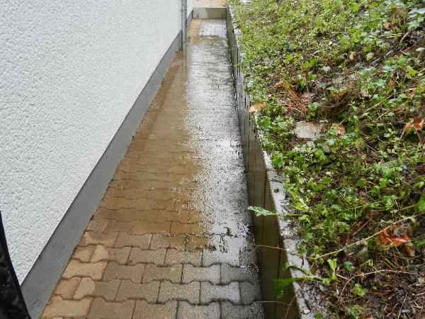 Eindringen von Wasser in den Keller der MZH am 25.07.2017