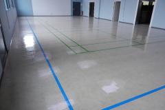 Linierung und Versiegelung des Hallenbodens